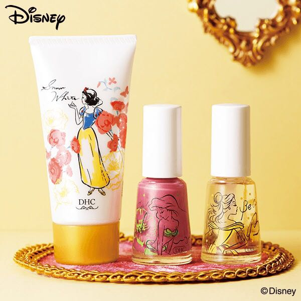 PO Japan DHC x Disney Princess Hand cream and nail Color set