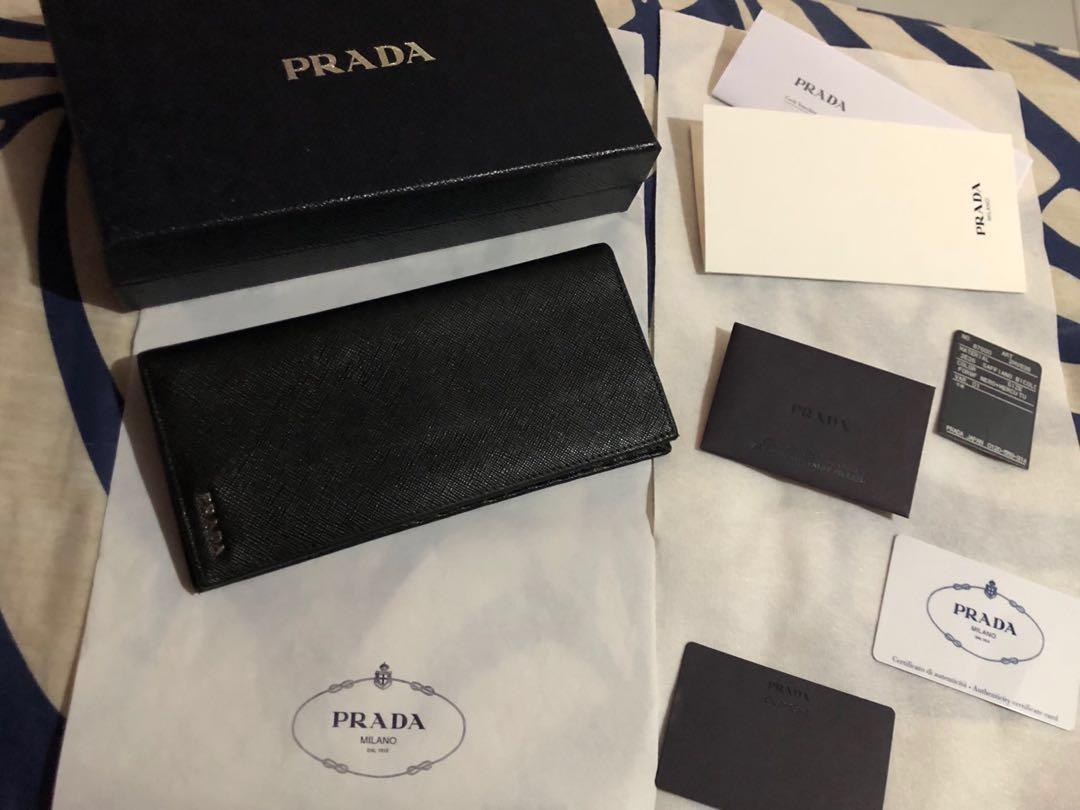 c9472112cade PRADA SAFFIANO MEN LONG WALLET, Men's Fashion, Bags & Wallets ...