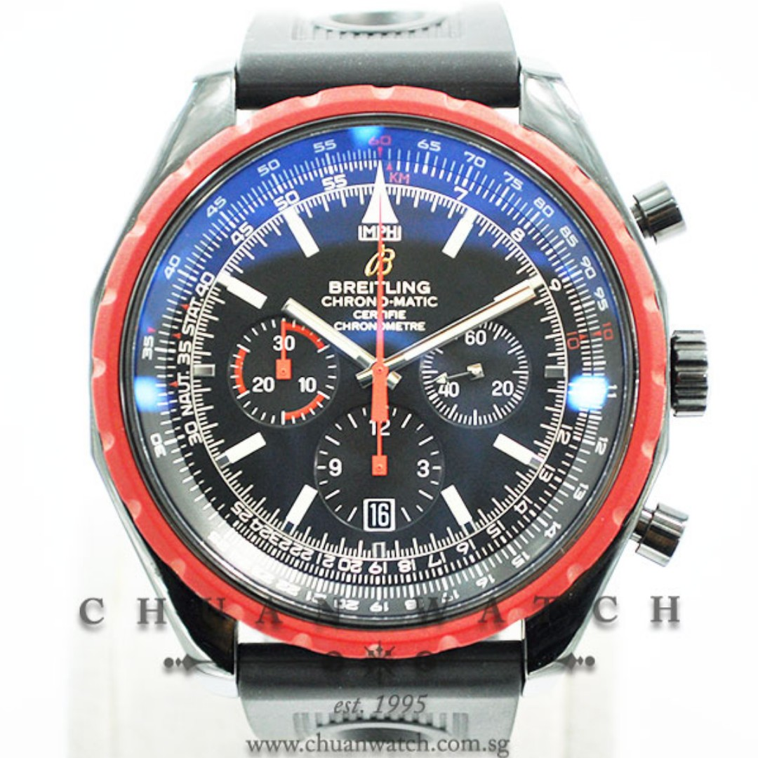 Pre Owned Breitling Navitimer Chrono Matic 49 Black Steel M1436003 Ba67 Limited Edition Of 2000 Pieces Only
