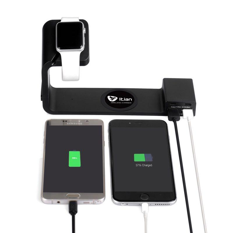 Qi Multi Functional Wireless Charging Stand for Apple Watch,