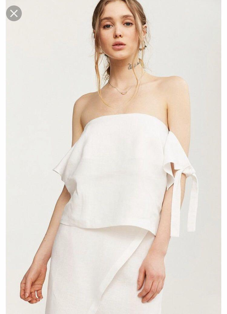 SIR the Label - white Bella off the shoulder top (size 3 - equivalent to a 10 or a 12)