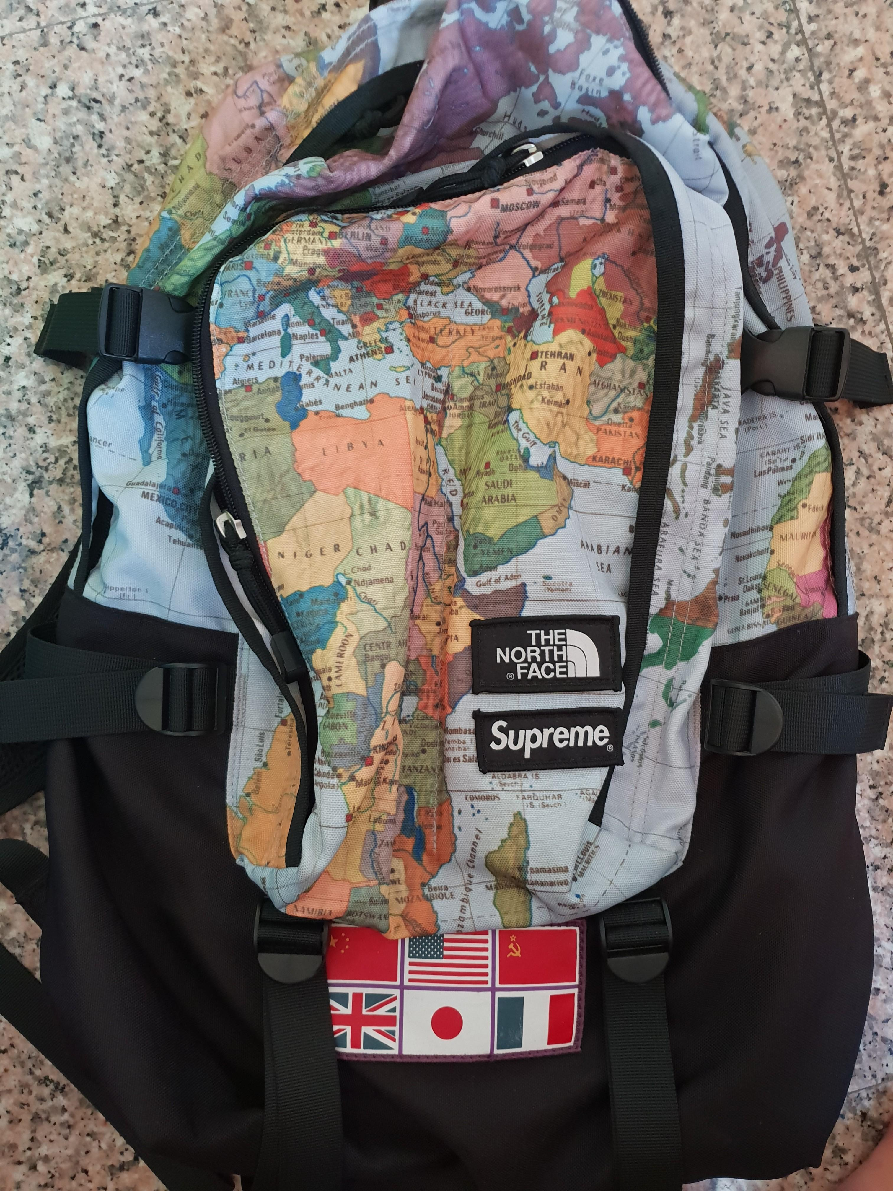 a87a0d89dfd4 2014 Supreme x The North Face Expedition Backpack World Map Print ...