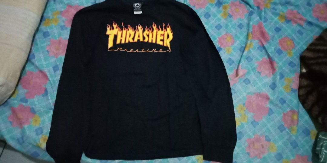 c3b85aca long sleeve thrasher size M,original 100% ,minus pemakaian, Men's ...