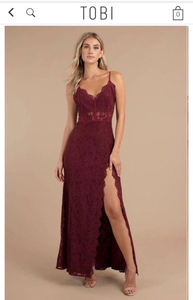 20593e880f0 Tobi Wine Maxi dress