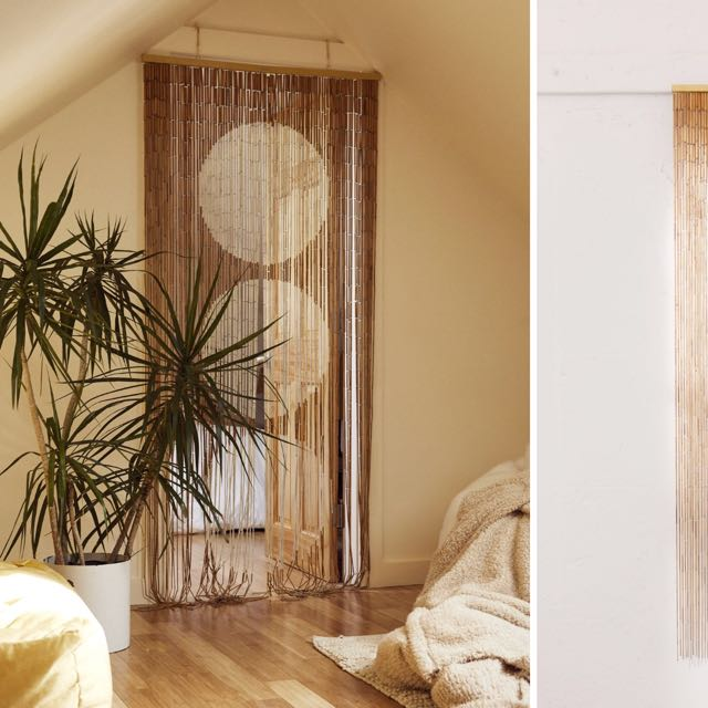 Zen door curtain bamboo blinds vintage screen room divider, Furniture, Home Decor, Others on Carousell