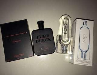 CK2 and Pure Black Perfume