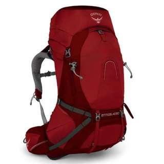 OSPREY ATMOS AG 50 L RIGBY RED MD hiking camping backpack 童軍 遠足 行山 露營 背囊 背包 登山包
