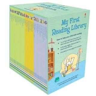 Usborne : My First Reading Library Book Set 50 books