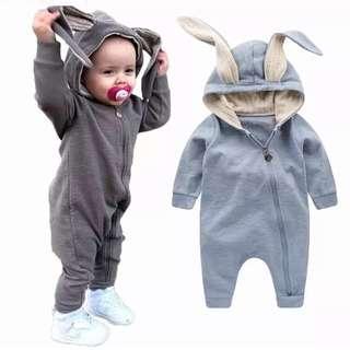 Baby Jumpsuit/ Bunny jacket