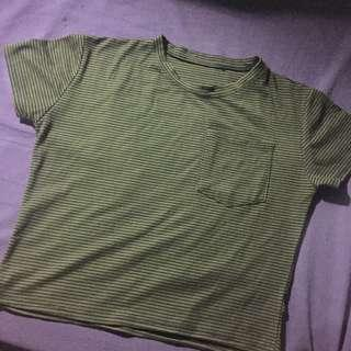 Stripe Top Army Green