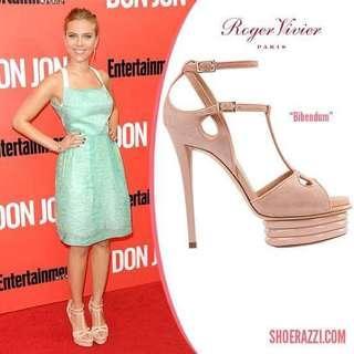 Excellent condition Authentic R0ger vivier heels bibendum t-strap (not platform) - 38 - true to size