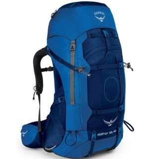 OSPREY AETHER AG 85 L NEPTUNE BLUE LG hiking camping backpack 童軍 遠足 行山 露營 背囊 背包 登山包