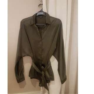 Cloth Inc Green Shirt size S