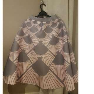 Grey purple pattern skirt