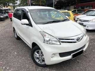 2013 Toyota AVANZA 1.5 G (A) FULL SPEC FULL LOAN