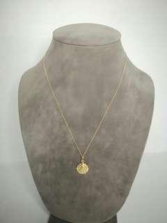 18k saudi gold mama mary pendant necklace
