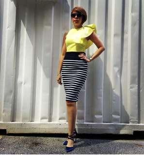 Love Bonito Cropped Top in Lime