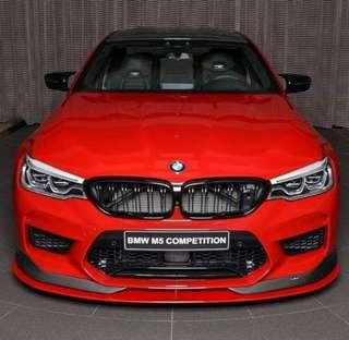 New BMW G30 5 Series Carbon Double Slate Kidney Grille (will not void BMW warranty)