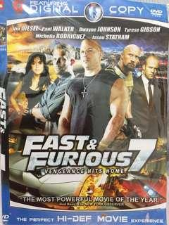 Kaset dvd film barat Fast and Furious 7