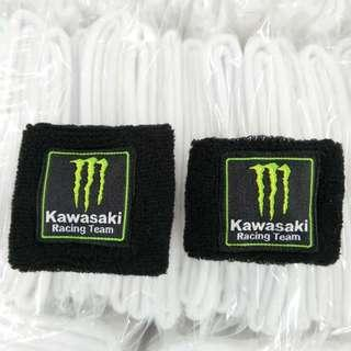 Kawasaki monster racing brake reservoir cover. Clutch reservoir cover. Socks . For zx10r zx6r z1000 ninja h2 z900 z800 zx12r zx14r z650 ninja400 etc