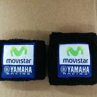 Yamaha movistar brake bottle socks. Brake reservoir cover. Clutch reservoir cover. FOR M1 R1M R3 R6 R15 R25 ETC