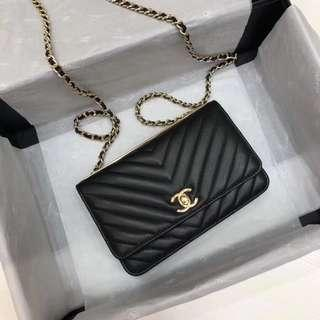 Chanel chevron WOC