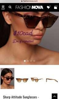 Fashion Nova sharp attitude sunglasses