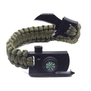 Military Outdoor Paracord Survival Bracelet