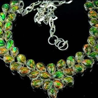 Stunning Fire Opal Gemstones Necklace