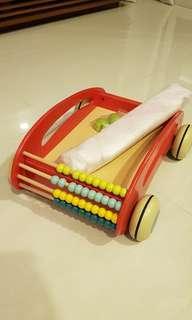 Toddler Walker Cart Trolley - BN - Wood