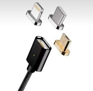Magnetic Charging Cable with 3 in 1 Adapter