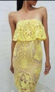 Yellow lace dress - Melbourne cup & the races