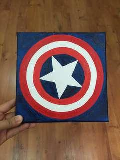 Acrylic on Canvas Painting - Captain America