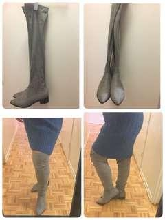 Over the knee suede like boots size 8