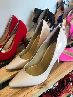 Brand New Patent Nude Pumps