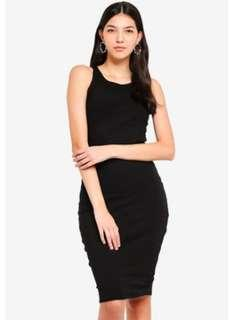 SM Woman Bodycon Black Sleeveless Dress