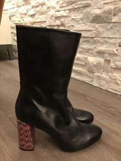 ZARA Black Booties - Size 8