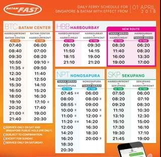 2Way Ferry Ticket to Nongsa Terminal, Montigo, Turi & Batamview