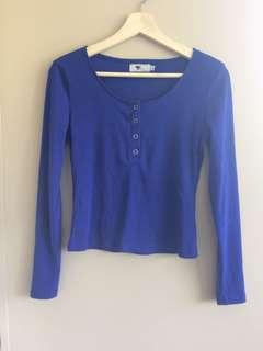 Royal blue slim top