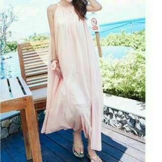 ⚡免運⚡限量1件 華麗粉嫩長版洋裝 大尺碼