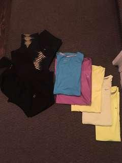 Women's Brand Name Athletic Wear LOT Size Small