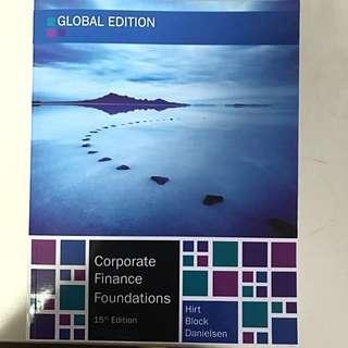 Corporate Finance Foundations 15 Edition by Hirt Block Danielsen, Mc Graw Hill