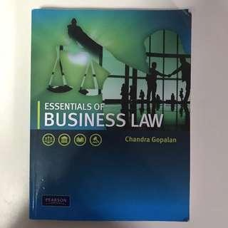 Business Law Textbook by Chandra Gopalan
