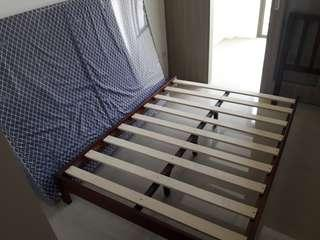 Bed with frame 15k - cabinet 5k
