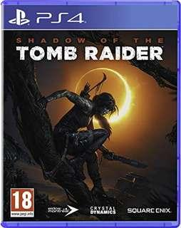 WTS Shadow of tomb raider PS4