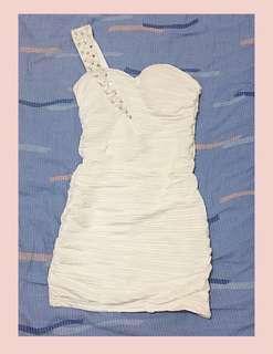 Beaded White Dress