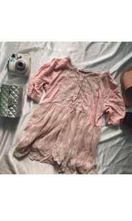 Vintage pastel pink mini dress