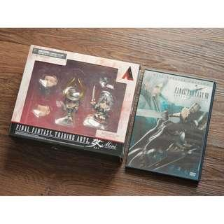Final Fantasy Trading Arts Kai Mini Warrior Heroes of Light Figures + FFVII Advent Children DVD