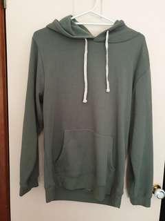 plain green hoodie