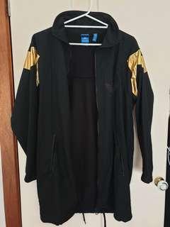 adidas black and gold trefoil jacket